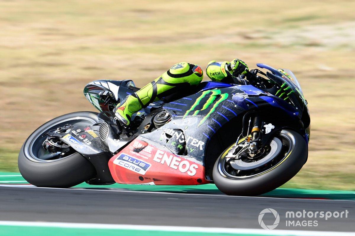 Valentino Rossi, Yamaha Factory Racing, después de su caída