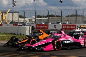 Jack Harvey, Meyer Shank Racing Honda, Patricio O'Ward, Arrow McLaren SP Chevrolet