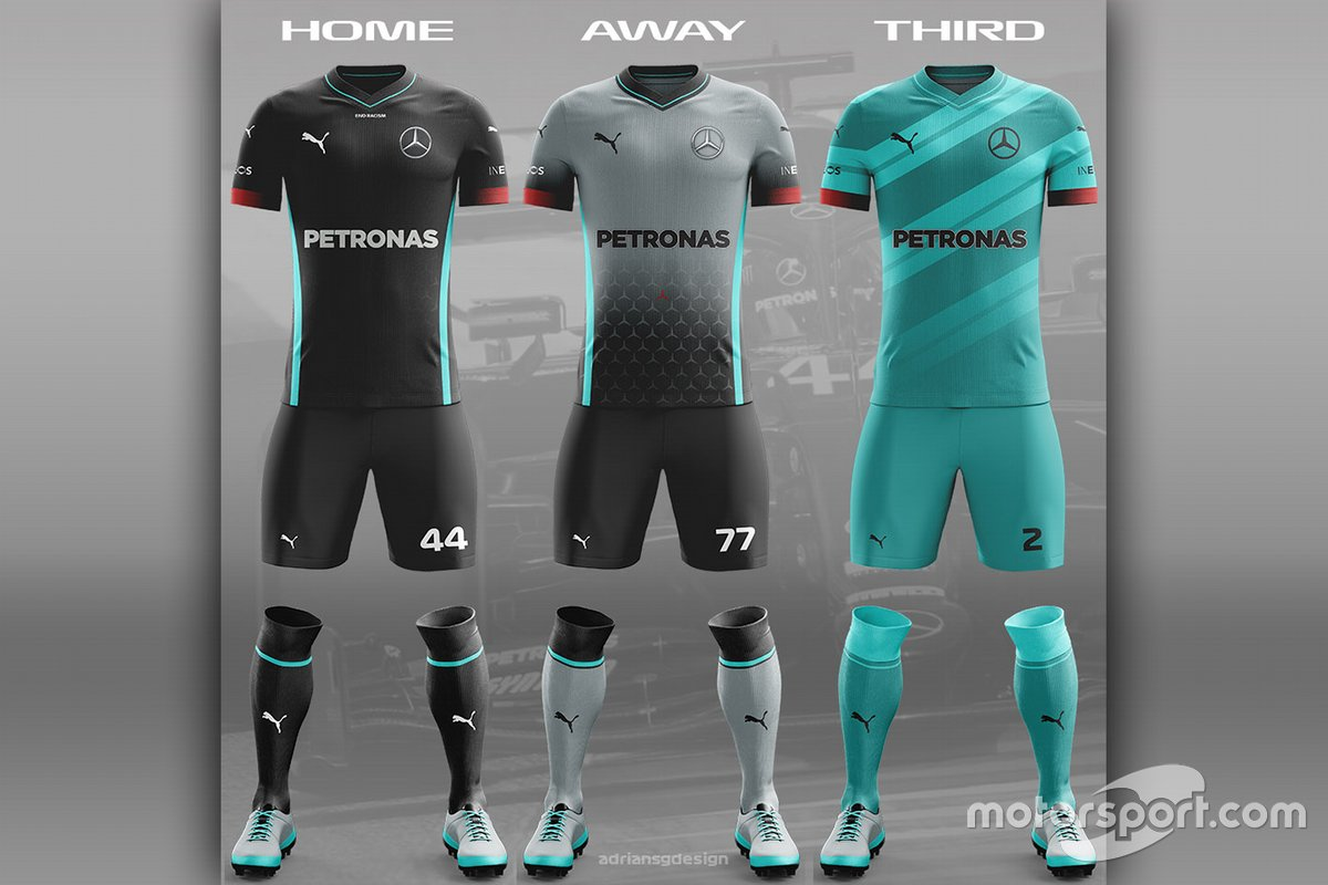 Mercedes Football team kit