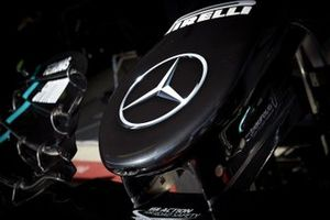 Close up of the Mercedes F1 W11