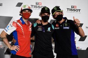 Francesco Bagnaia, Pramac Racing, Franco Morbidelli, Petronas Yamaha SRT, Valentino Rossi, Yamaha Factory Racing