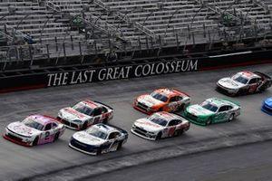 Tyler Reddick, Richard Childress Racing, Chevrolet Camaro Dolly Parton, Justin Allgaier, JR Motorsports, Chevrolet Camaro ARMOUR Vienna Sausage