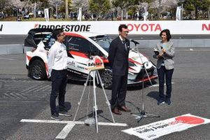Oliver Siesla, WRC Promoter Representative with the Toyota Yaris WRC