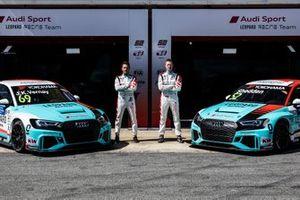 Jean-Karl Vernay, Leopard Racing Team Audi Sport Audi RS 3 LMS, Gordon Shedden, Leopard Racing Team Audi Sport Audi RS 3 LMS