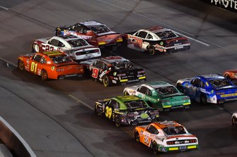 Stephen Leicht, JD Motorsports, Chevrolet Camaro teamjdmotorsports.com and Austin Cindric, Team Penske, Ford Mustang LTi Printing