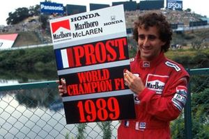 Alain Prost was temporarily proclaimed as World Champion, as McLaren announced their intention to appeal the decision to disqualify Ayrton Senna from the race