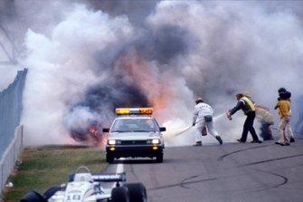 Riccardo Paletti, Osella FA1C-Ford kaza sonrası