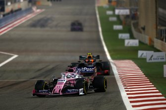 Sergio Perez, Racing Point RP19, leads Pierre Gasly, Red Bull Racing RB15