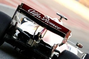 Alfa Romeo Racing C38 dettaglio ala posteriore