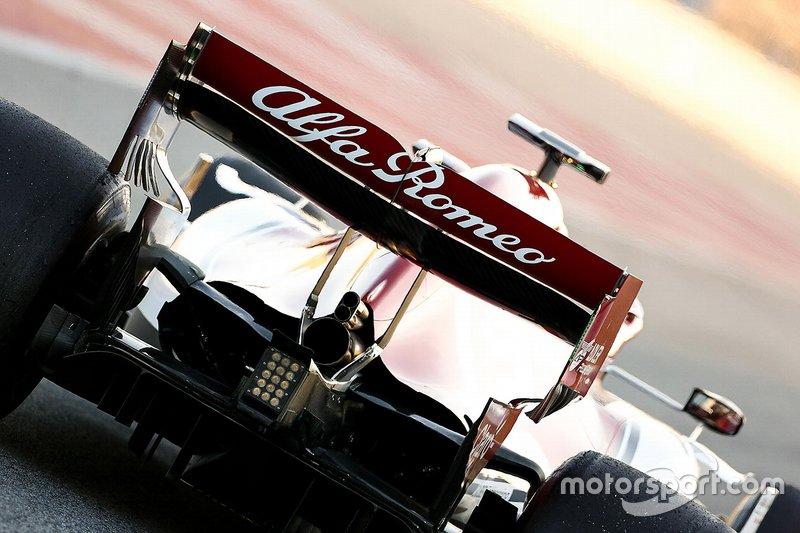 Alfa Romeo Racing C38 rear wing detail
