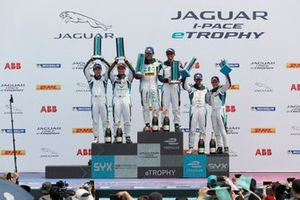 Pro, Pro-Am podium finishers: winners Cacá Bueno, Jaguar Brazil Racing, Bandar Alesayi, Saudi Racing, second-placed Yaqi Zhang, Team China, Simon Evans, Team Asia New Zealand, third-placed Ahmed Bin Khanen, Saudi Racing, Bryan Sellers, Rahal Letterman Lanigan Racing