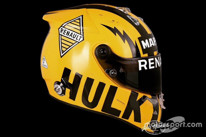 Casco de Nico Hulkenberg, Renault F1 Team, para el GP de China*