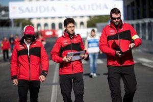 Daniel Abt, Audi Sport ABT Schaeffler, walks the track