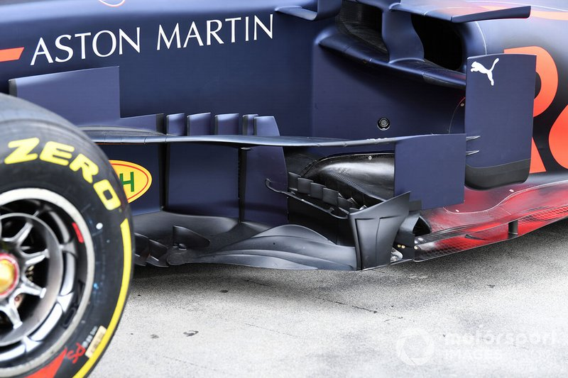 Barge Board and aero details on the Red Bull Racing RB15