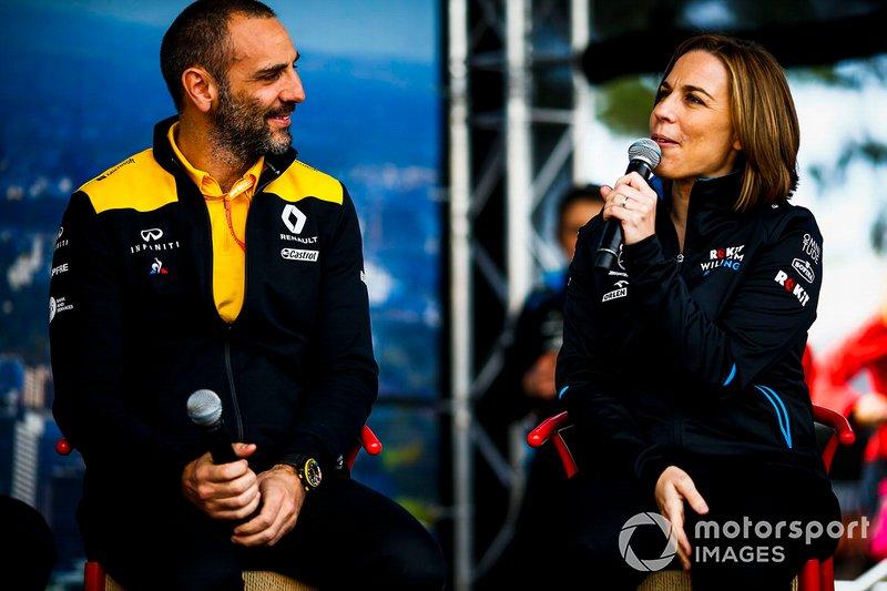 Сіріль Абітбуль, керівний директор Renault F1 Team та Клер Вільямс, заступник керівника команди Williams