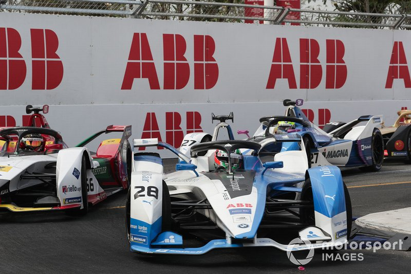 Antonio Felix da Costa, BMW I Andretti Motorsports, BMW iFE.18, Daniel Abt, Audi Sport ABT Schaeffler, Audi e-tron FE05, Alexander Sims, BMW I Andretti Motorsports, BMW iFE.18