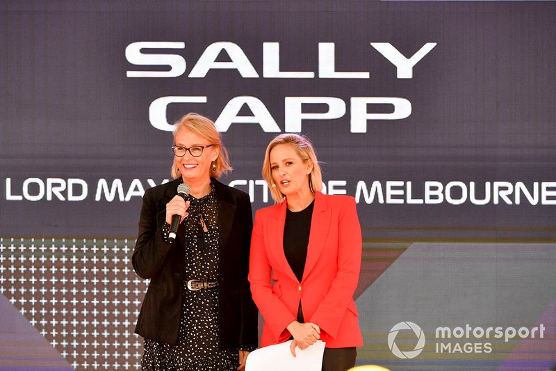 Sally Capp, Sindaca della città di Melbourne, all'evento a Federation Square