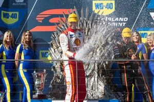 Podium: race winner Fabian Coulthard, DJR Team Penske Ford