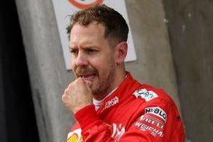 Sebastian Vettel, Ferrari, 3rd position, in Parc Ferme