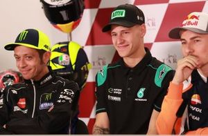 Valentino Rossi, Yamaha Factory Racing, Fabio Quartararo, Petronas Yamaha SRT, Jorge Lorenzo, Repsol Honda Team