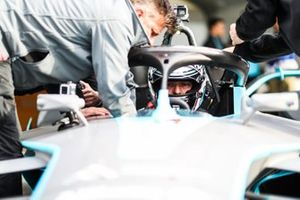 El medallista olímpico Sir Chris Hoy en el FIA ABB Formula E