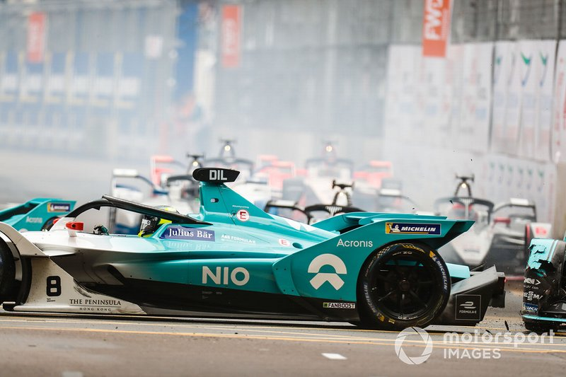 Nelson Piquet Jr., Panasonic Jaguar Racing, Jaguar I-Type 3, Tom Dillmann, NIO Formula E Team, NIO Sport 004