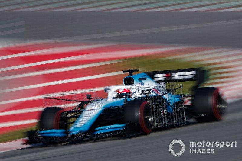 Robert Kubica, Williams FW42, con dei sensori aerodinamici