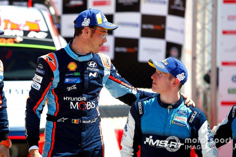 Podio: Thierry Neuville, Hyundai Motorsport, Elfyn Evans, M-Sport Ford WRT