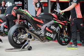 La moto d'Andrea Iannone, Aprilia Racing Team Gresini