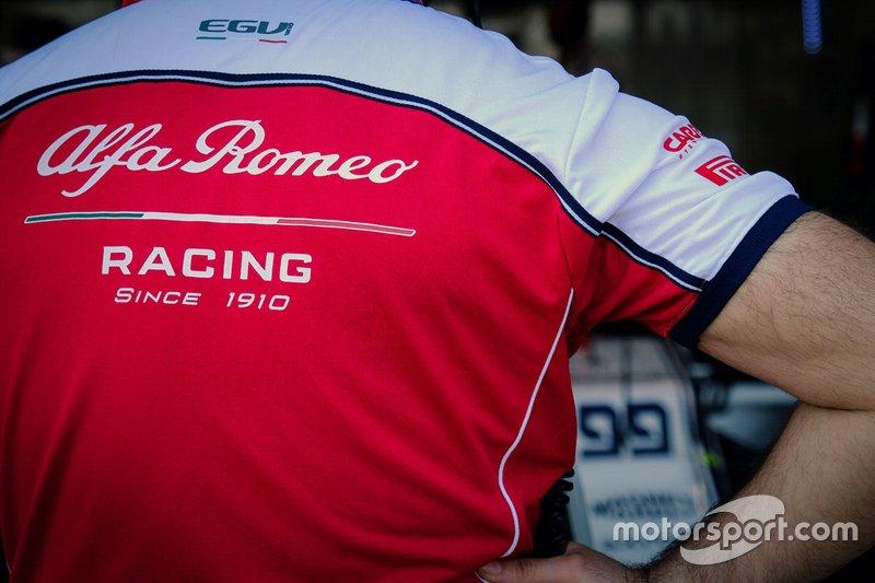 Alfa Romeo Racing logo on a shirt