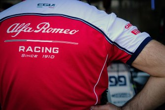 Alfa Romeo Racing logo on a shirt