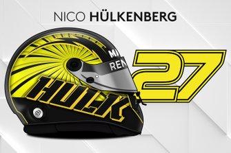 El casco 2019 de Nico Hülkenberg