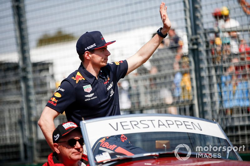Max Verstappen, Red Bull Racing, durante la drivers parade