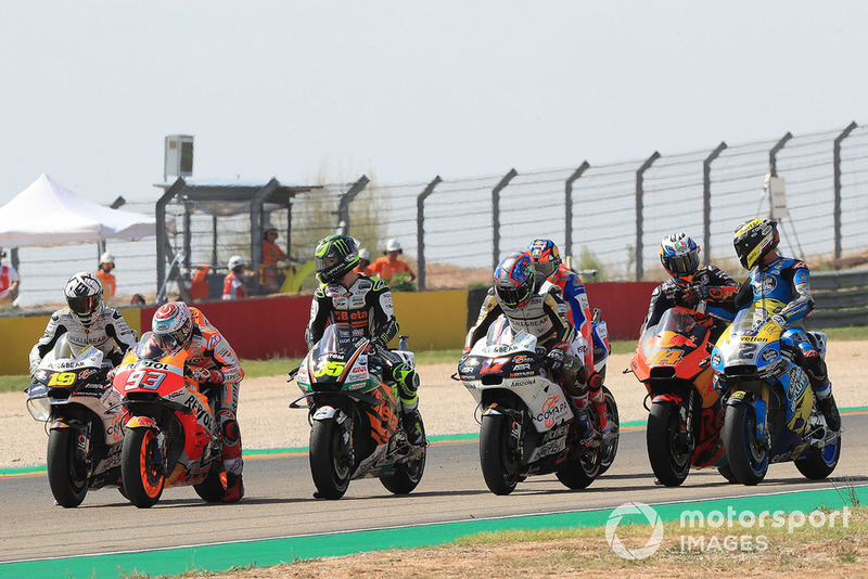 Marc Marquez, Repsol Honda Team, Cal Crutchlow, Team LCR Honda, practice start