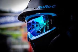 #3 United Autosports Ligier JS P3 - Nissan: Anthony Wells, Garett Grist, Matthew Bell reflected in glasses