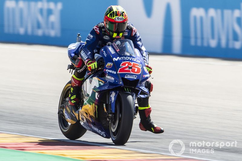 Maverick Viñales, Yamaha Factory Racing, braking