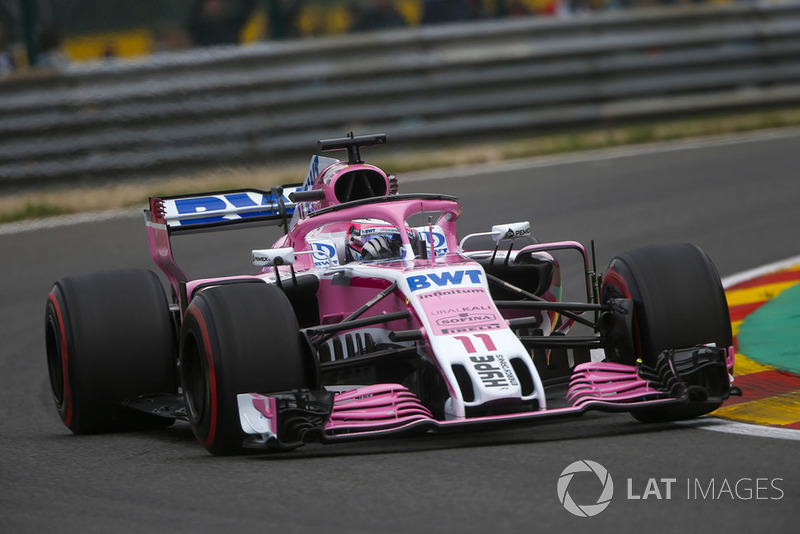 El Racing Point Force India VJM11 de 2018...