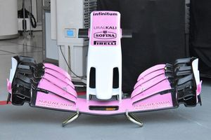 Racing Point Force India front wing technical detail