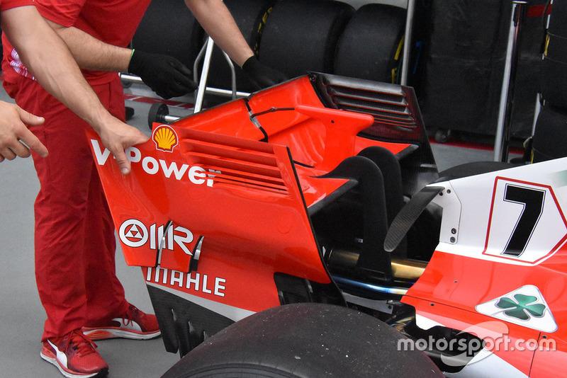 Ferrari rear wing technical detail