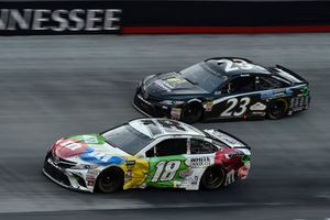 Kyle Busch, Joe Gibbs Racing, Toyota Camry M&M's White Chocolate, Blake Jones, BK Racing, Toyota Camry Tennessee XXX Moonshine