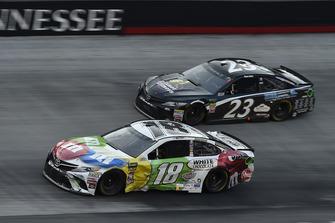 Kyle Busch, Joe Gibbs Racing, Toyota Camry M&M's White Chocolate, Blake Jones, BK Racing, Toyota Camry Tennessee XXX Moonshine