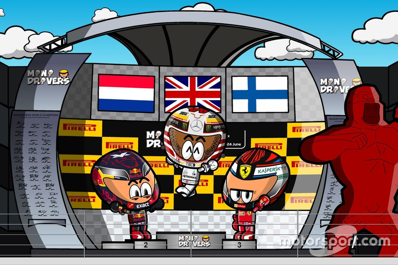 El podio del GP de Francia 2018 de F1, por MiniDrivers
