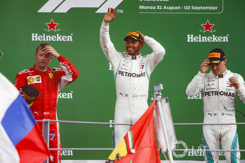 No GP da Itália de 2018, Raikkonen chegou em segundo e subiu no pódio pela centésima vez na F1.