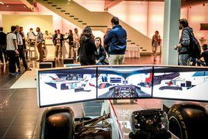 Simulatore esposto alla Factory Sauber