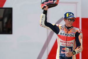 Podio: il terzo classificato Marc Marquez, Repsol Honda Team