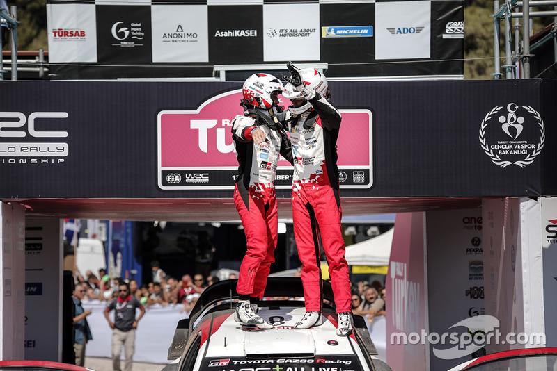 Yarış galibi Ott Tänak, Martin Järveoja, Toyota Gazoo Racing