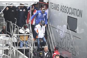 Dani Pedrosa, Repsol Honda Team, quitte la réunion de la Commission de sécurité