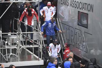 Xavier Simeon, Avintia Racing, quitte la réunion de la Commission de sécurité