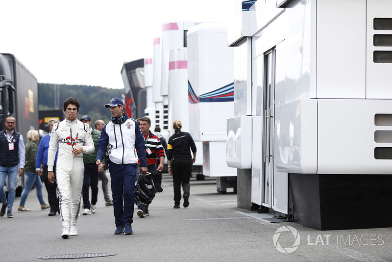 Lance Stroll, Williams Racing, in the paddock
