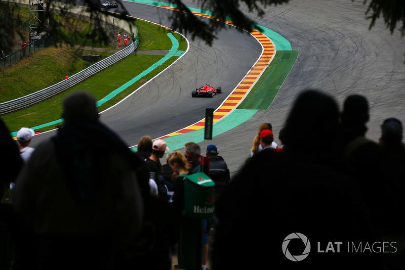 Sebastian Vettel, Ferrari SF71H, at Pouhon